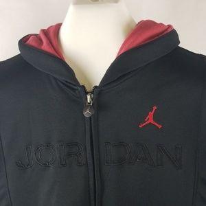 Air Jordan Hoodie Zip hooded Sweatshirt Boys Large